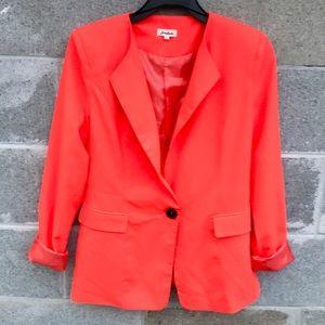 Love Riche Neon Orange Light Weight Blazer Sz L